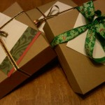 Holiday gift boxes.